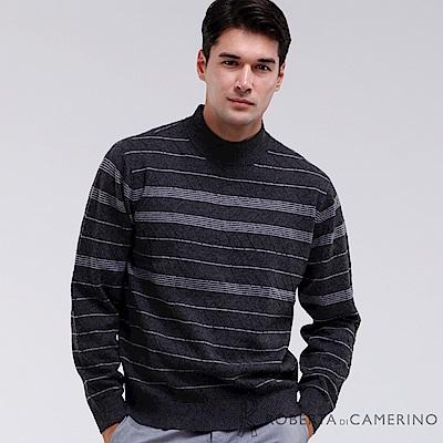 ROBERTA諾貝達 都會型男 100%純美麗諾羊毛衣 深灰色
