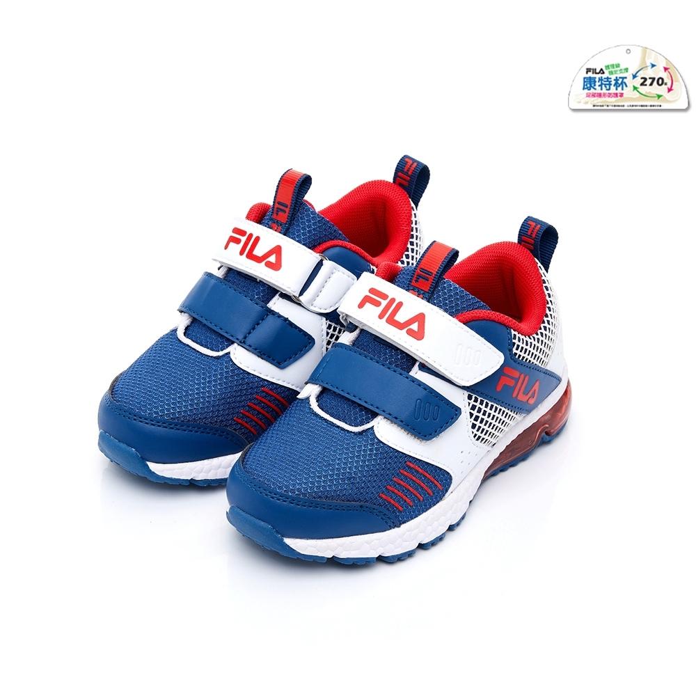 FILA KIDS 中童氣墊MD慢跑鞋-藍 2-J422U-123