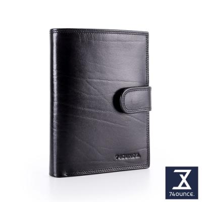 74盎司 Maroon馬鞍皮護照夾[N-588-MA-M]黑