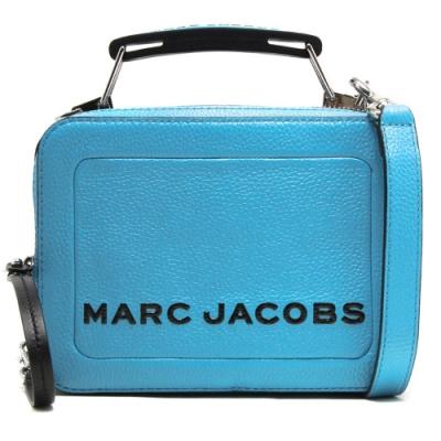 MARC JACOBS THE BOX 20  雙拉鍊牛皮手提/肩背兩用包(小款 /天空藍)