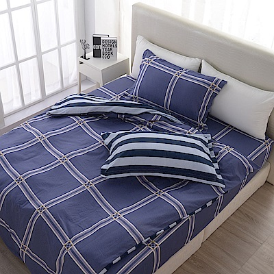 夢工場   瑪格麗特精梳棉床包兩用被組-雙人