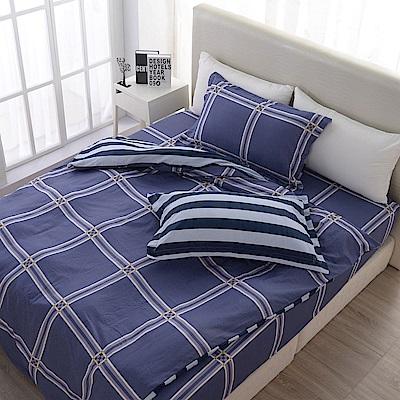 夢工場   瑪格麗特精梳棉床包兩用被組-加大