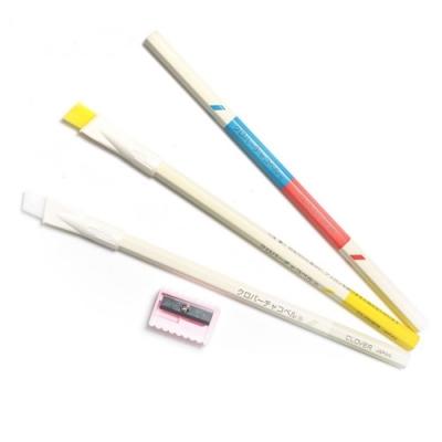 日本可樂牌Clover四種顏色粉土筆組24-081縫紉記號筆(含3支粉土鉛筆即紅藍黃白4色,削筆器,毛刷)拼布記號筆粉筆記號消失筆裁縫水消筆