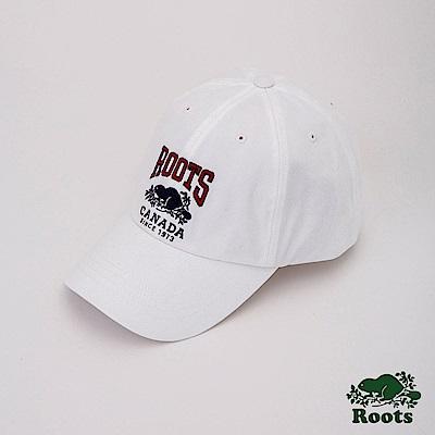 Roots配件- 經典LOGO棒球帽-白