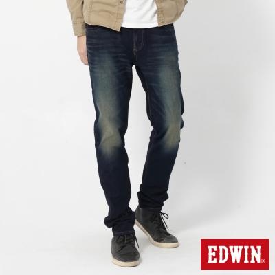 EDWIN AB褲 迦績褲JERSEYS圓織休閒褲-男-原藍磨