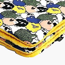 La Millou 暖膚豆豆毯-朵朵綿羊糖(清恬芒果黃)