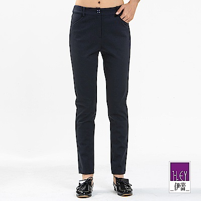 ILEY伊蕾 -5kg高彈力窄管褲(藍)