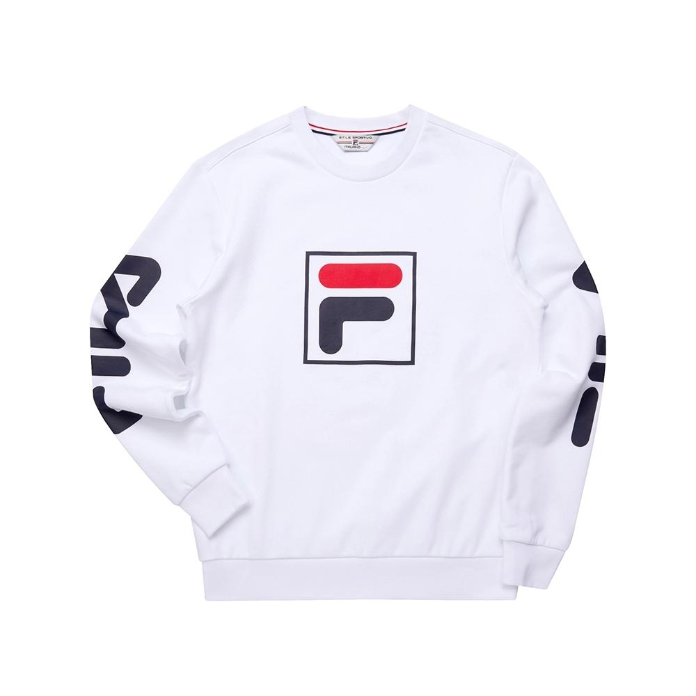 FILA 長袖圓領T恤-白色 1TET-5495-WT