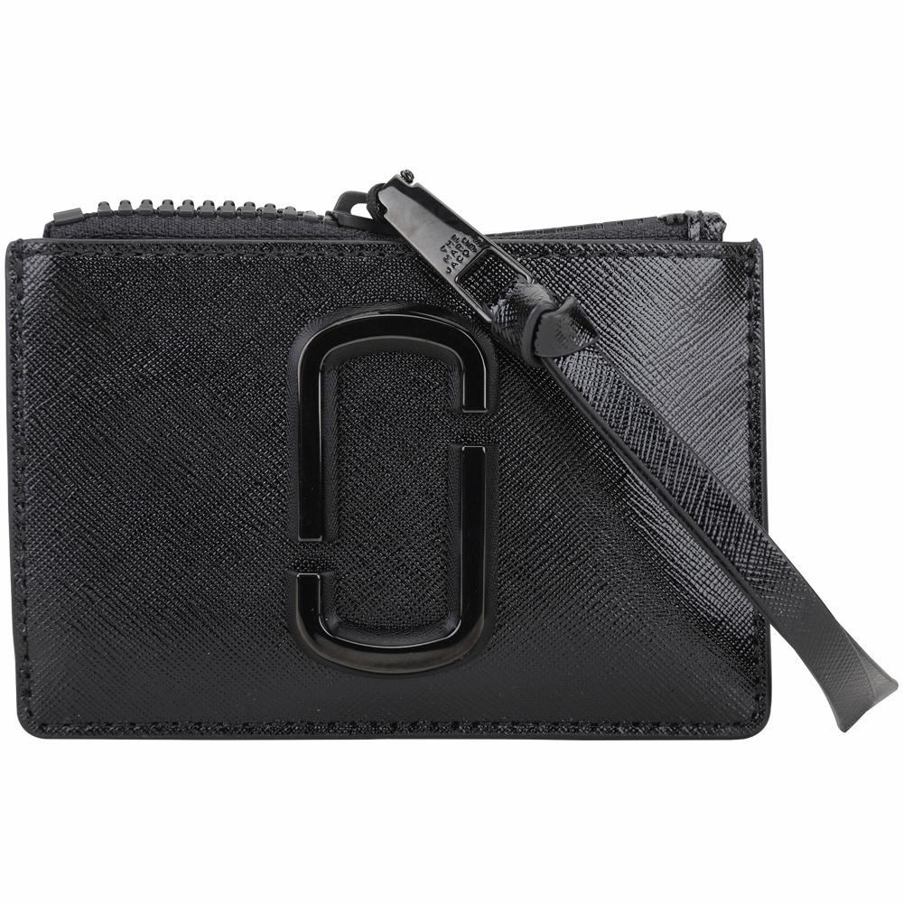 MARC JACOBS Snapshot 防刮皮革卡片夾/零錢包(黑色)