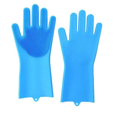 矽膠清潔手套(1雙) 洗碗手套  洗菜手套