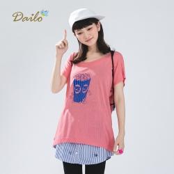 【Dailo】爆米花寬領涼感-針織衫(三色)