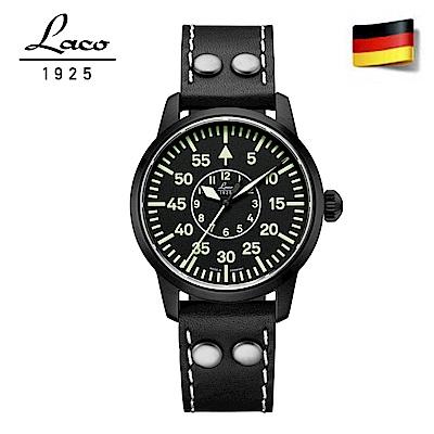 Laco 朗坤861760 德國空軍 夜光防水皮帶 Bielefeld 軍事風格機械錶