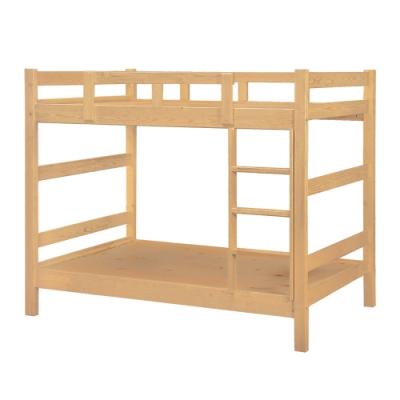 綠活居 帝力 現代3.5尺實木單人雙層床台組合(二色可選)-112x202x160cm免組