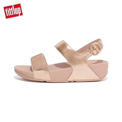 【FitFlop】LULU CRYSTAL EMBELLISHED BACK-STRAP SANDALS 經典水鑽後帶涼鞋-女(玫瑰金)