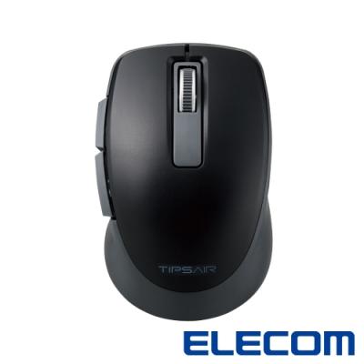 ELECOM TIPS AIR無線靜音點握型滑鼠-黑