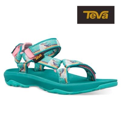 【TEVA】原廠貨 中童 Hurricane XLT2 機能運動涼鞋/雨鞋/水鞋/童鞋(獨角獸水藍-TV1019390CUWTR)