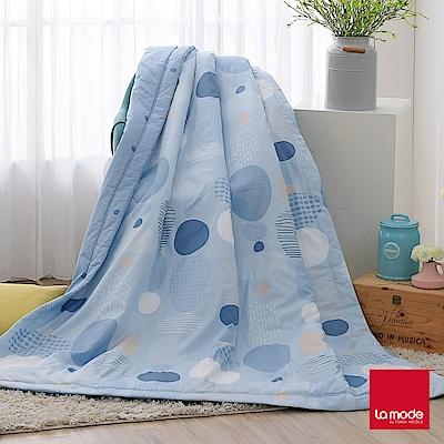 La Mode寢飾 薄荷泡泡糖環保印染100%精梳純棉涼被(單人)