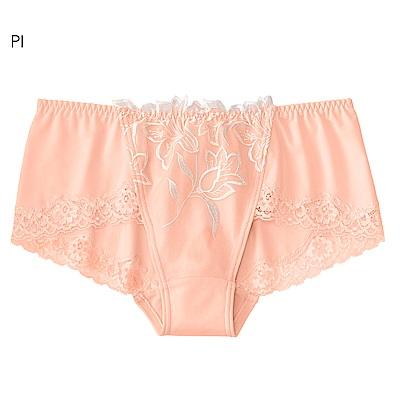aimerfeel 金絲蕾絲刺繡無痕低腰內褲-粉紅色-174727-PI