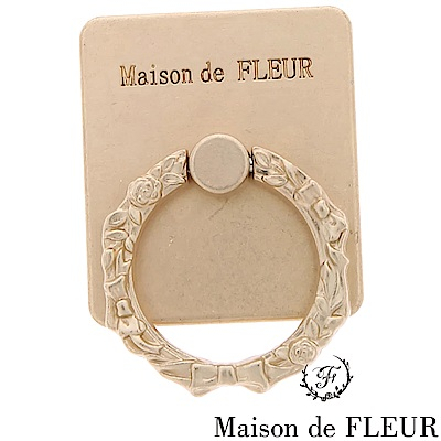 Maison de FLEUR 質感啞光金色手機指環