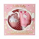 Sanrio HELLO KITTY甜點系香氛保濕造型護唇膏&護手霜禮盒組(草莓香)
