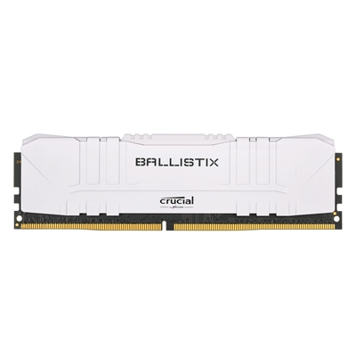 Micron Crucial Ballistix D4 2666 8G 超頻 桌上型記憶體(白色散熱片)