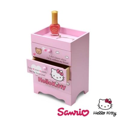 Hello Kitty 凱蒂貓 桌上三層收納盒 抽屜盒 置物盒 美妝收納 桌上收納