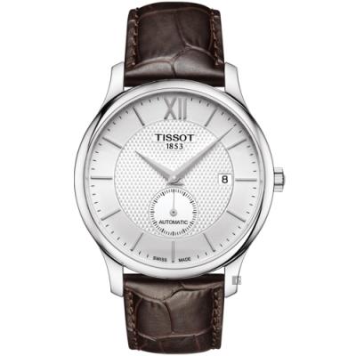 TISSOT 天梭 Tradition 小秒針機械錶-40mm  T0634281603800