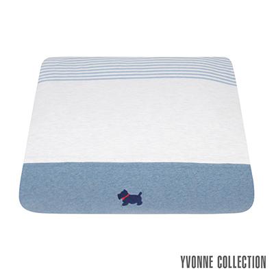 YVONNE COLLECTION 狗狗藍條紋雙人四季被(6x7呎)
