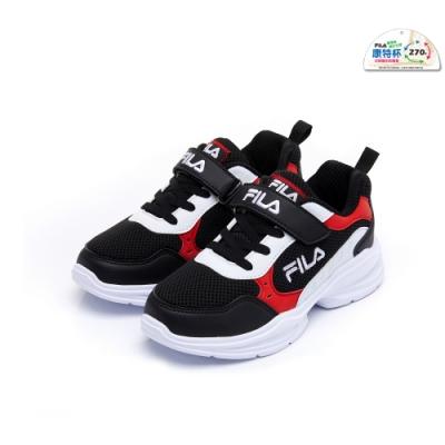 FILA KIDS 大童MD輕量慢跑鞋-黑紅 3-J409U-011