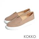 KOKKO - 優雅小跑步牛皮輕量休閒鞋 -  輕裸膚