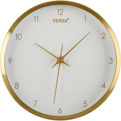 《VERSA》簡約金屬掛鐘(金25.8cm)