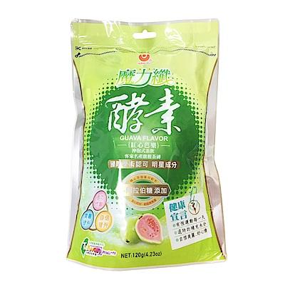 正心堂花草茶 魔力纖酵素沖泡茶磚-紅心芭樂(120g)