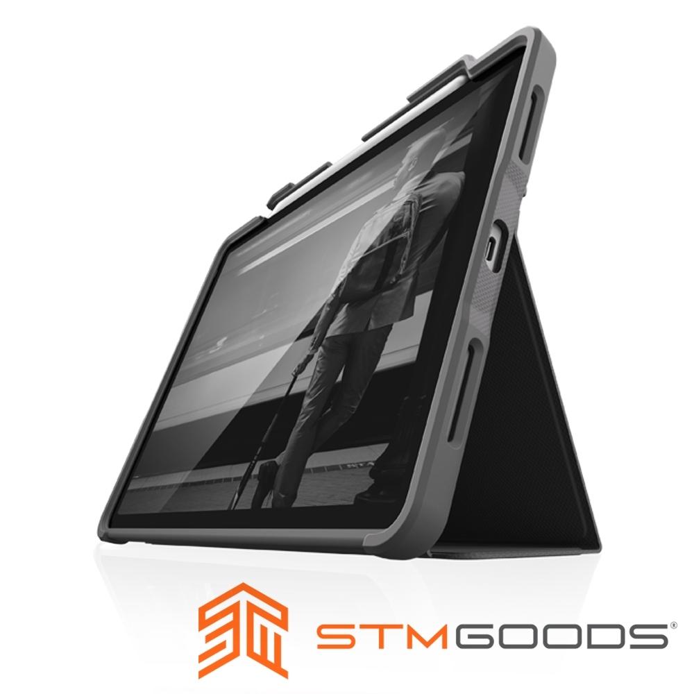 澳洲 STM Rugged Case Plus for iPad Pro 12.9吋 (第四代) 強固軍規防摔平板保護殼 - 黑