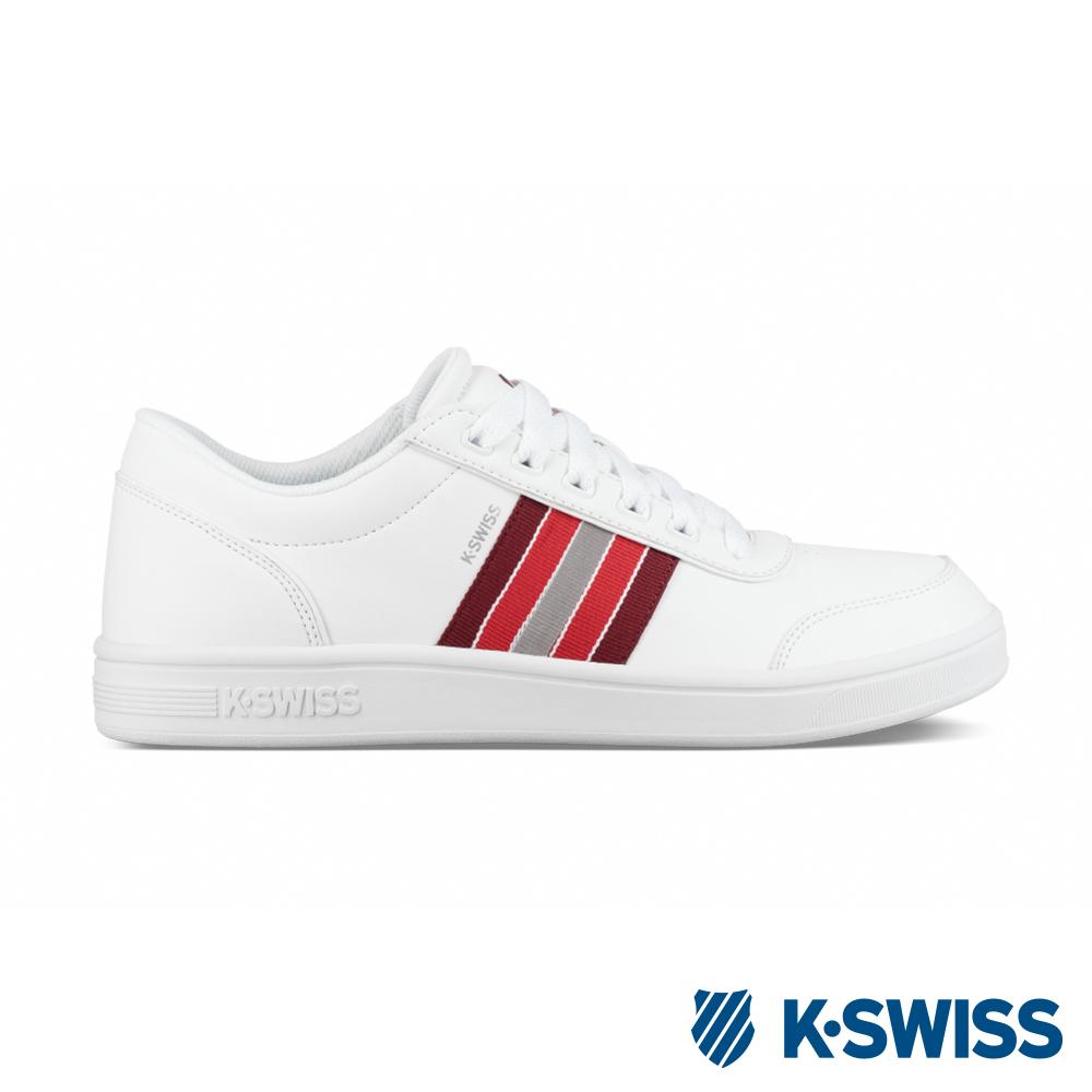K-SWISS Court Clarkson S SE休閒運動鞋-男-白/紅