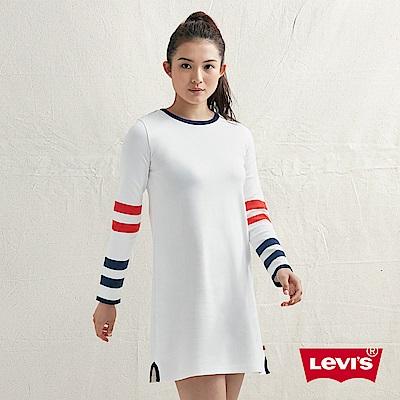 Levis 女款 連身裙 撞色條紋 頸後Box Logo