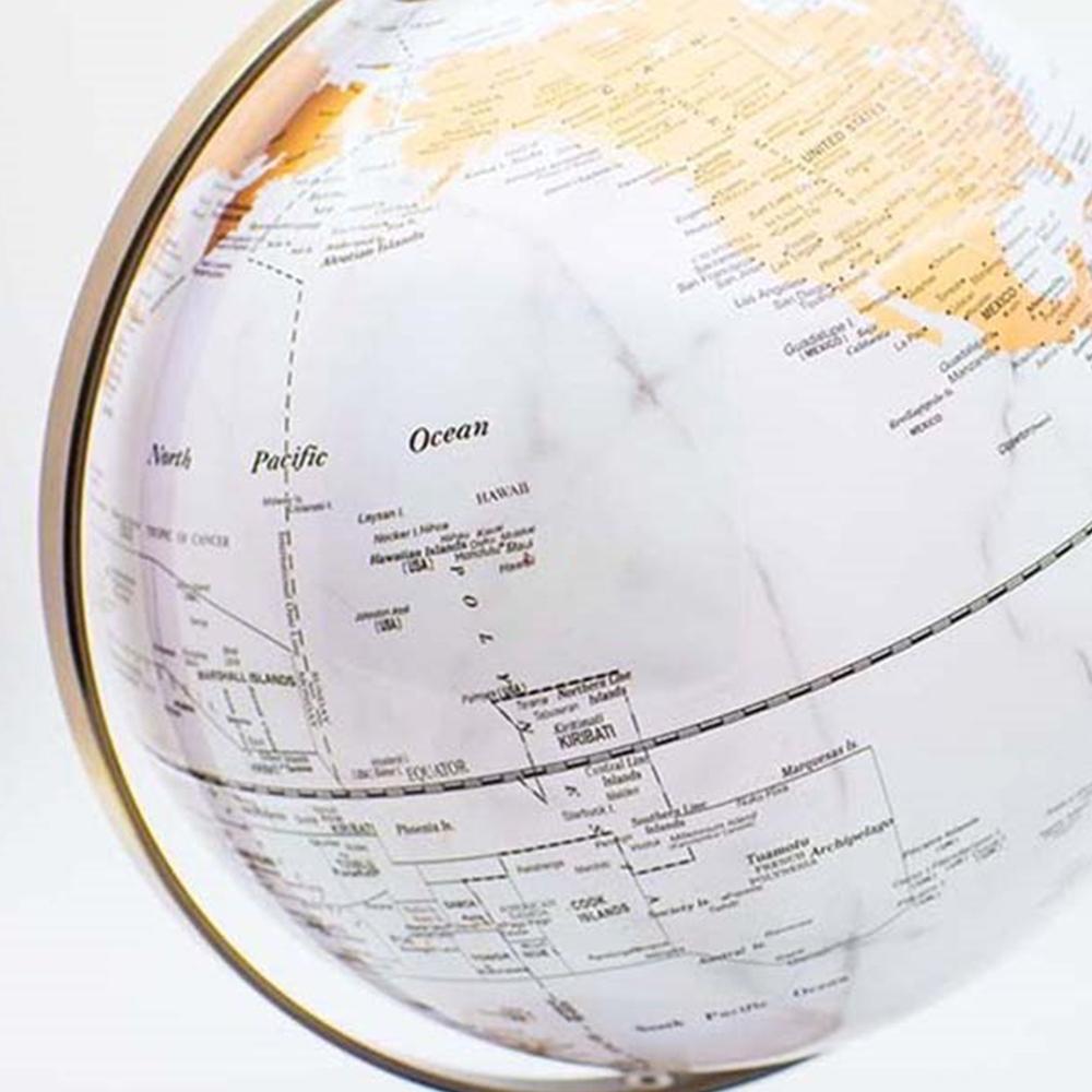 Skyglobe 10吋白海金陸地大理石地球儀(英文版)