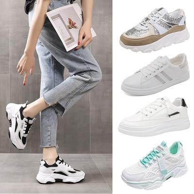 [時時樂限定]韓國KW美鞋館-百搭潮流老爹鞋VS休閒小白鞋(5款可選)