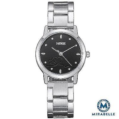 Mirabelle 紅線情緣 點鑽不鏽鋼女錶 黑面27mm