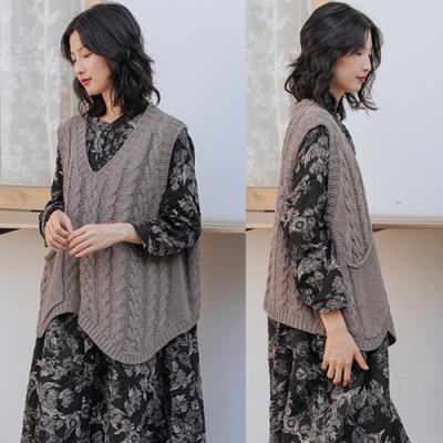 背心-羊毛毛衣馬甲針織外穿V領寬鬆-設計所在