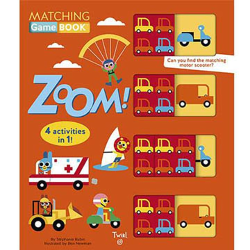 Matching Game Book:Zoom! 交通工具配對遊戲書 product image 1