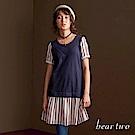 beartwo 條紋假兩件短袖洋裝(兩色)