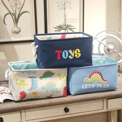 Kori Deer 可莉鹿 北歐風可折疊置物籃-恐龍/兒童玩具收納提籃洗衣籃