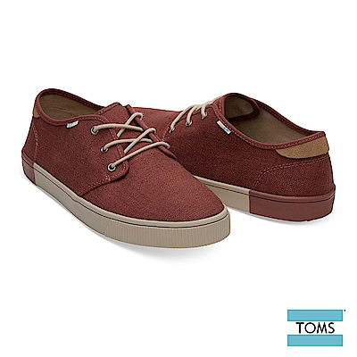 TOMS 復古紳士綁帶帆布休閒鞋-男款-Topanga系列