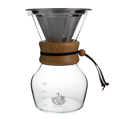【NO.5 達人咖啡】316不鏽鋼濾網 咖啡沖泡玻璃壺 4人份