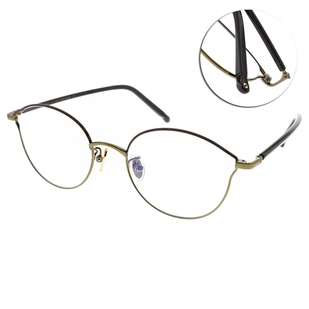 NINE ACCORD光學眼鏡  韓系多邊造型款/棕金-棕 #PLACO-ISIS1 C3