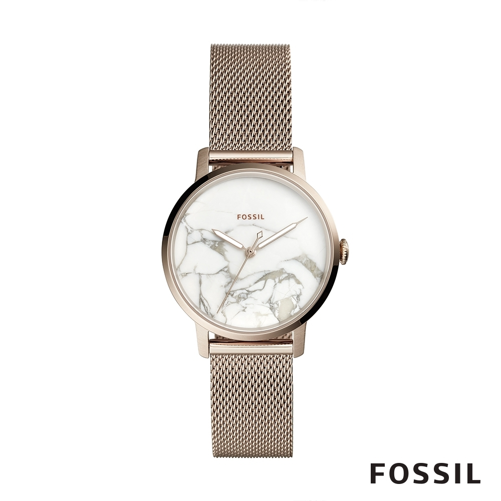 FOSSIL NEELY 米蘭錶帶大理石紋設計女錶 34mm ES4404