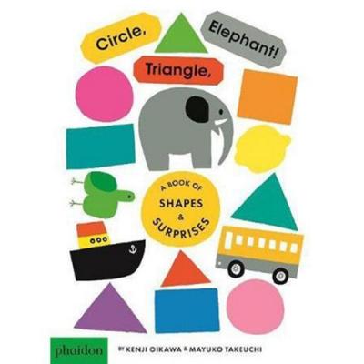 Circle,Triangle,Elephant! 圓形三角形大象!硬頁書