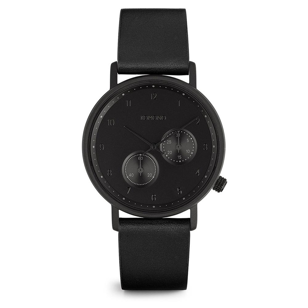 KOMONO Crafted Walther 腕錶-性格黑/40mm
