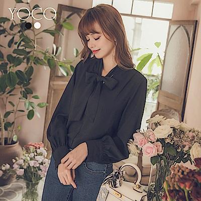 東京著衣-yoco 韓國姊姊氣質蝴蝶結襯衫上衣-S.M.L(共二色)