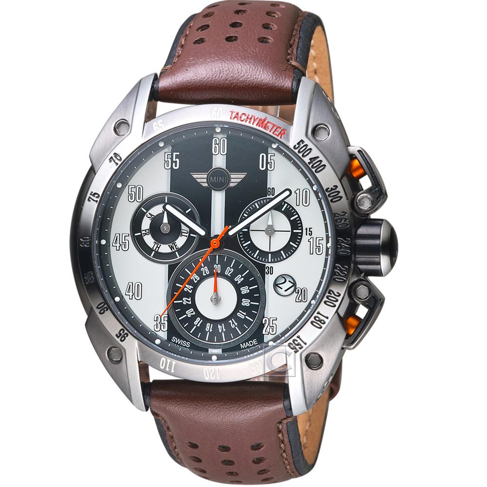 MINI Swiss Watches極速運動計時腕錶(MINI-160119)-白